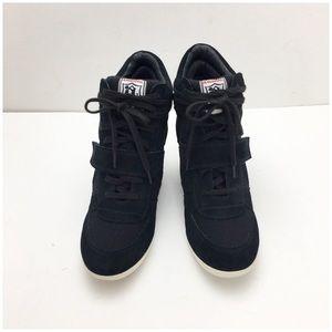 Ash Shoes - ASH Bowie Hidden Wedge Sneaker Black Suede